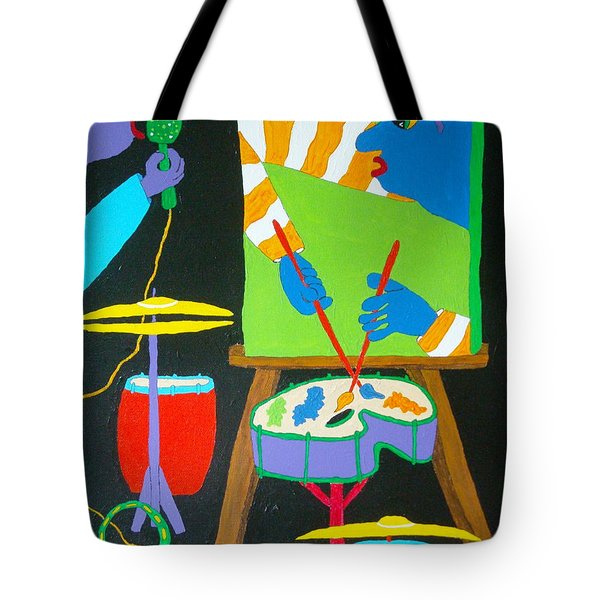 Vinny And The Van Goes Three Tote Bag by Pamela Allegretto