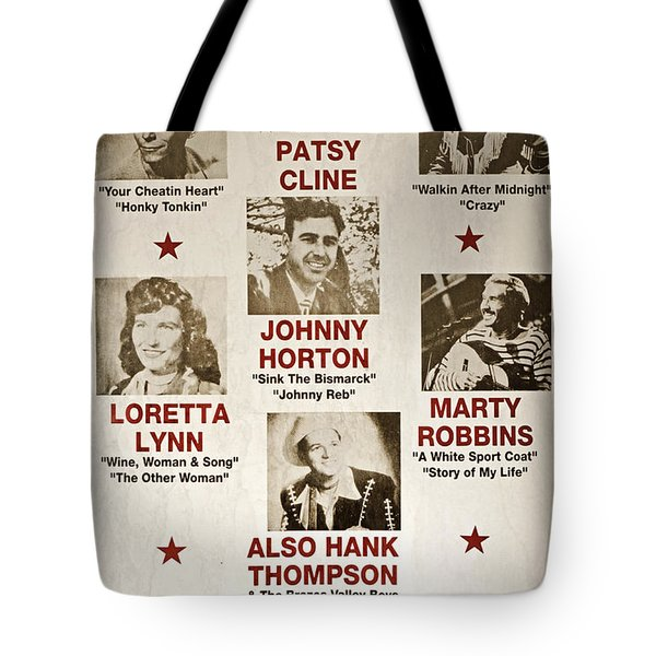 Vintage 1953 Grand Ole Opry Poster Tote Bag