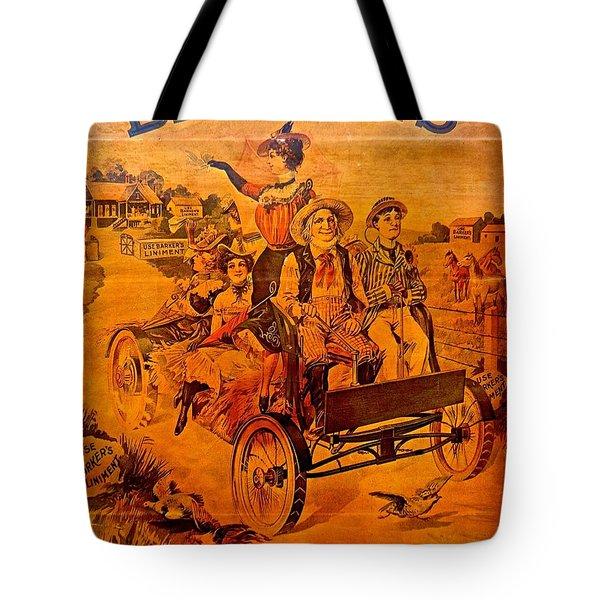 Vintage Ad Barker's Liniment Tote Bag