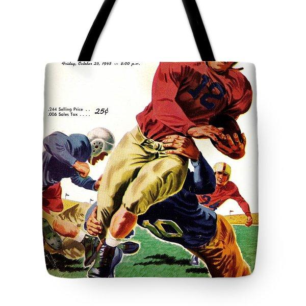 Vintage American Football Poster Tote Bag