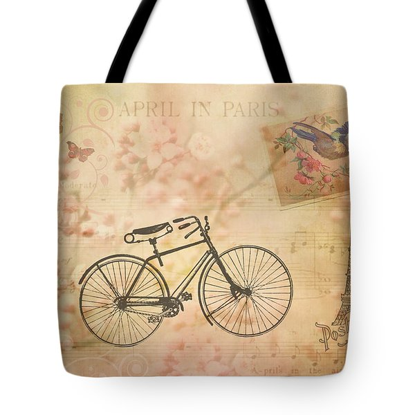 Tote Bag featuring the photograph Vintage April In Paris by Peggy Collins
