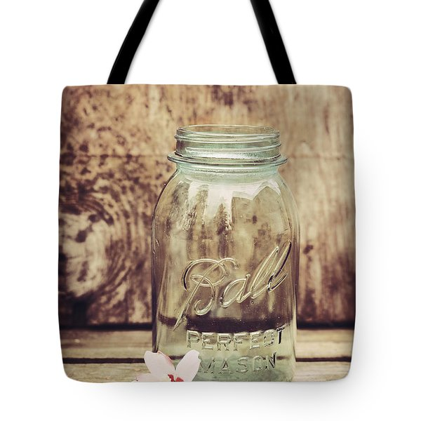 Vintage Ball Mason Jar Tote Bag