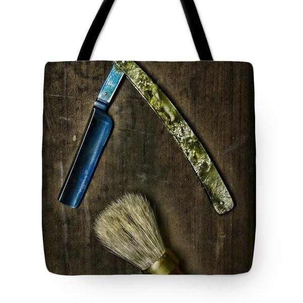 Vintage Barber Tools Tote Bag by Paul Ward