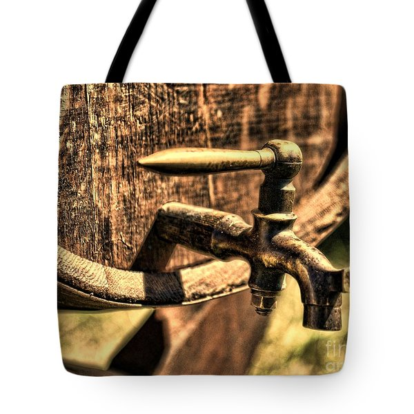 Vintage Barrel Tap Tote Bag by Paul Ward