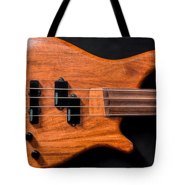 Vintage Bass Guitar Body Tote Bag