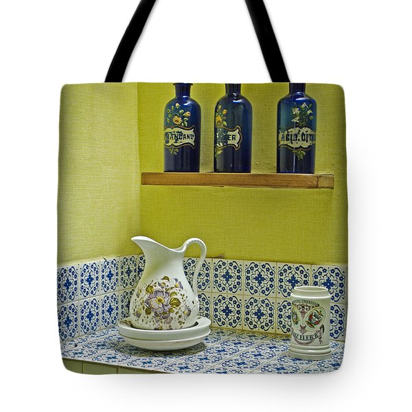Vintage Bathroom Tote Bag