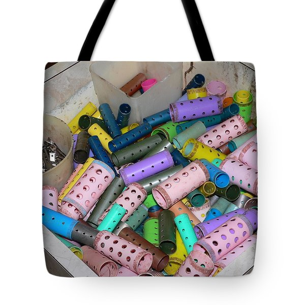 Vintage Beauty Shop Rollers Tote Bag
