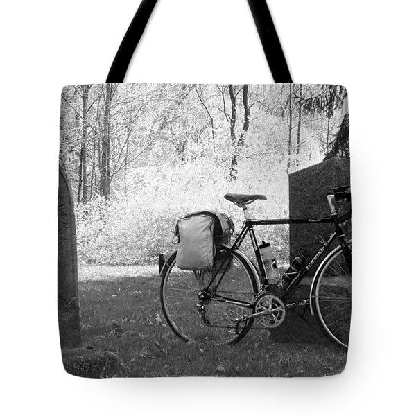 Vintage Bicycle In Graveyard Tote Bag
