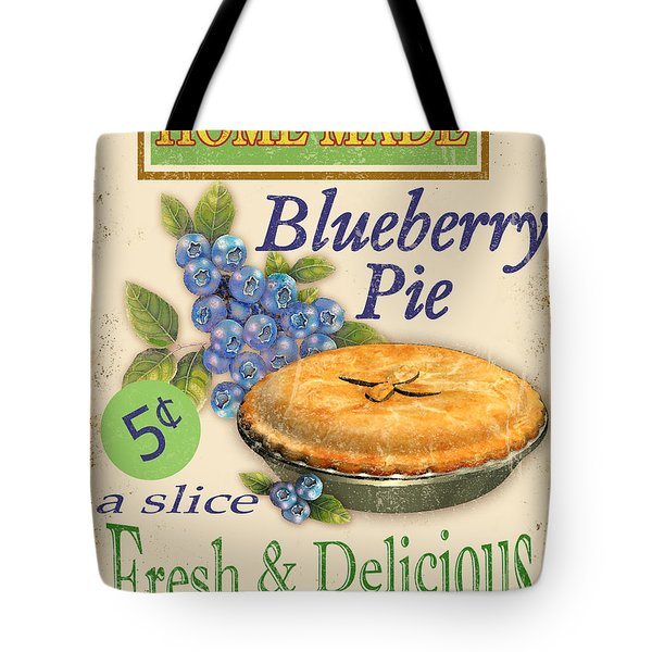 Vintage Blueberry Pie Sign Tote Bag