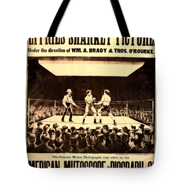 Vintage Boxing Movie Poster Tote Bag by Bill Cannon