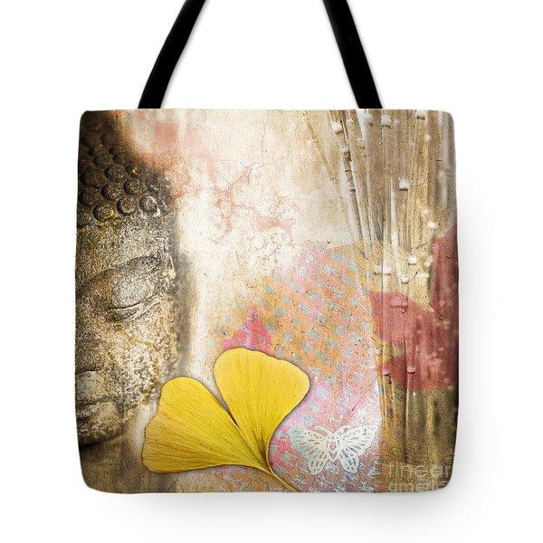 Vintage Buddha And Ginkgo Tote Bag