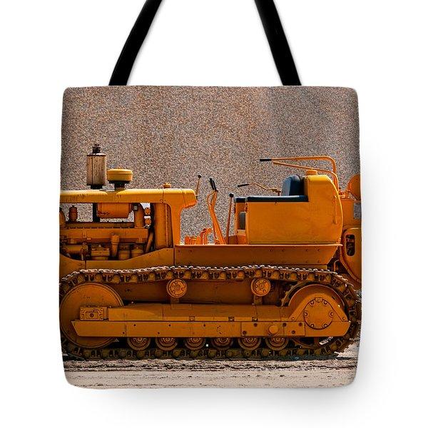 Vintage Bulldozer Tote Bag