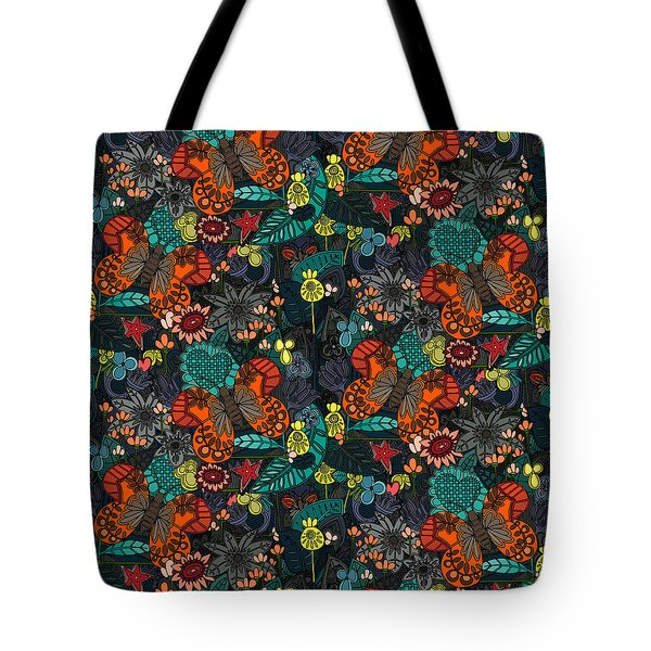 Vintage Butterfly Colour Tote Bag