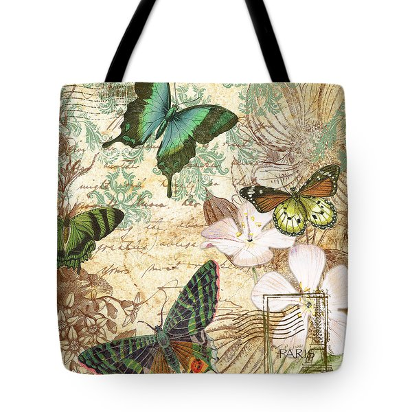 Vintage Butterfly Kisses  Tote Bag