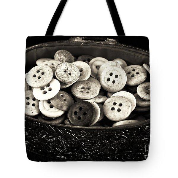 Vintage Button Treasure Tote Bag by John Rizzuto