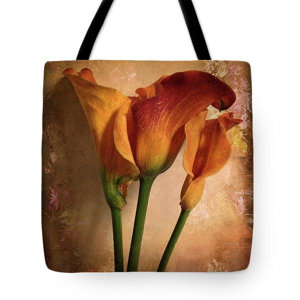 Vintage Calla Lily Tote Bag