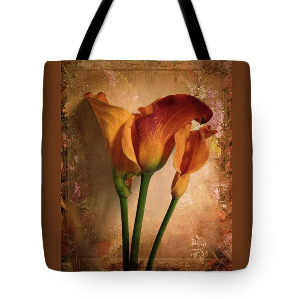 Tote Bag featuring the photograph Vintage Calla Lily by Jessica Jenney