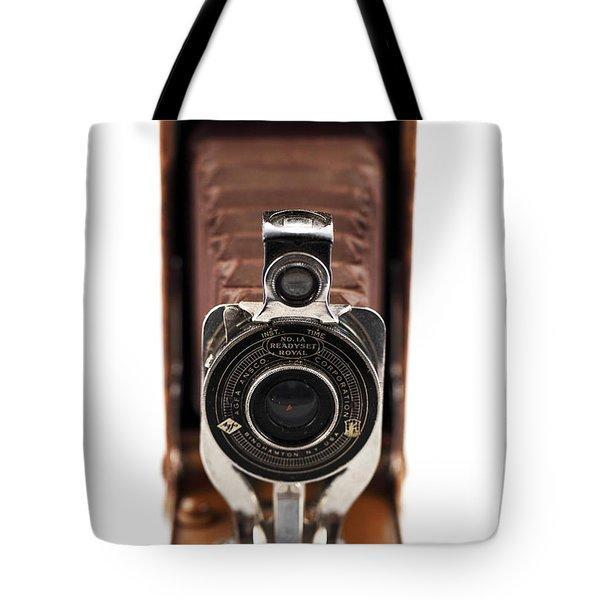 Vintage Camera Tote Bag by John Rizzuto