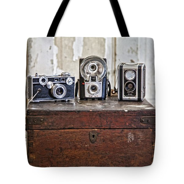 Vintage Cameras At Warehouse 54 Tote Bag