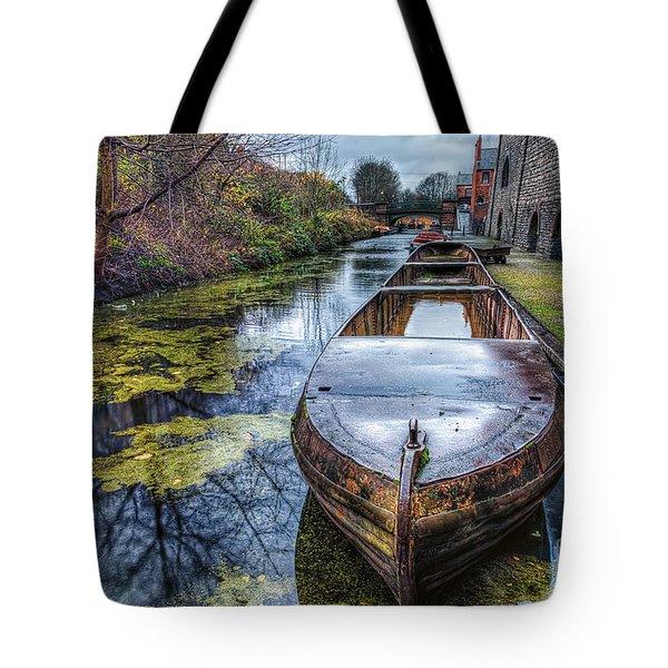 Vintage Canal Boat Tote Bag by Adrian Evans