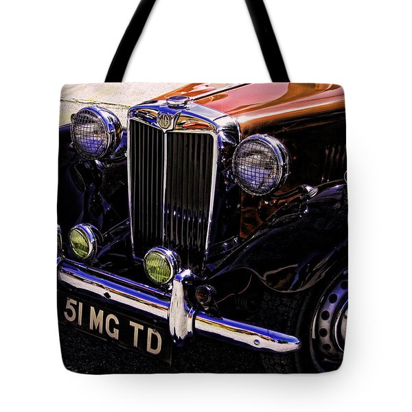 Vintage Car Art 51 Mg Td Copper Tote Bag