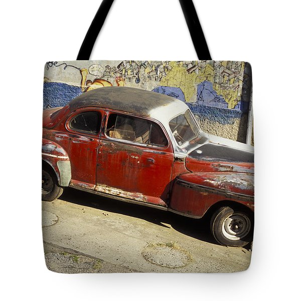 Vintage Car Tote Bag