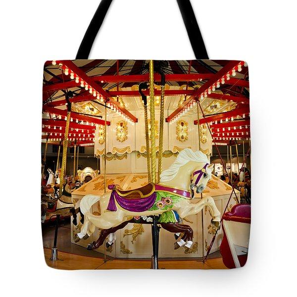 Vintage Carousel Tote Bag by Maria Janicki