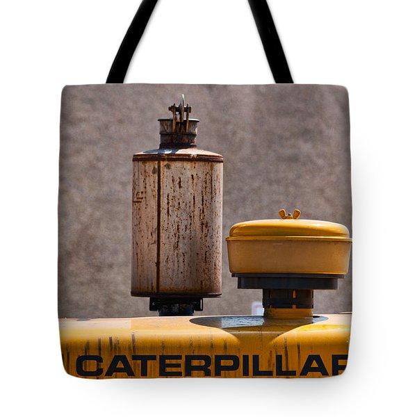 Vintage Caterpillar Machine Tote Bag by Les Palenik