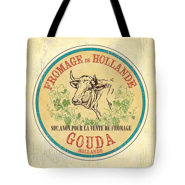 Vintage Cheese Label 1 Tote Bag by Debbie DeWitt