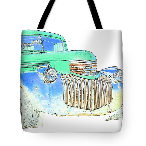 Vintage Chevrolet Pickup 2 Tote Bag by Betty LaRue