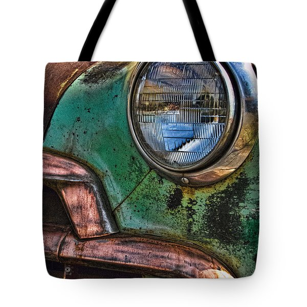 Vintage Chevy 1 Tote Bag by Nancy De Flon
