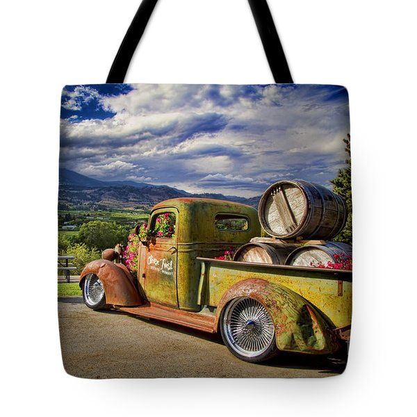 Vintage Chevy Truck At Oliver Twist Winery Tote Bag