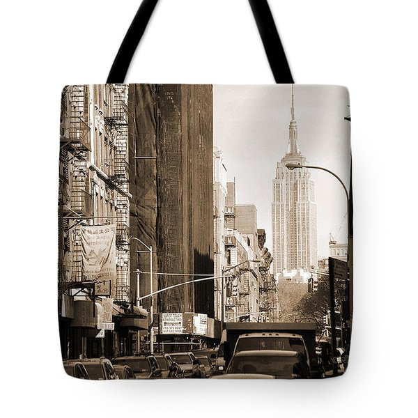 Vintage Chinatown And Empire State Tote Bag