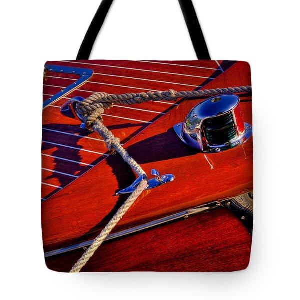 Vintage Chris Craft Boat Tote Bag