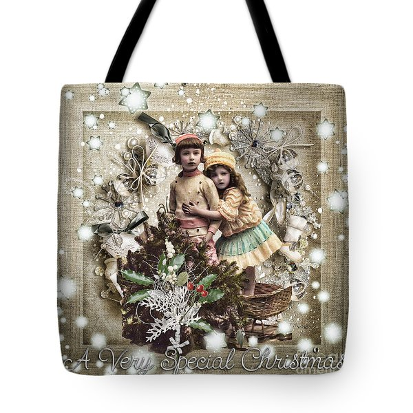 Vintage Christmas Tote Bag by Mo T