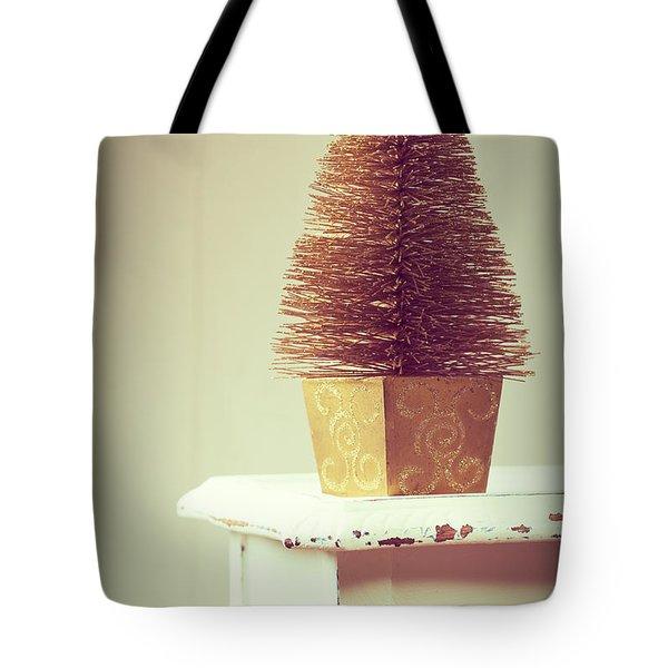 Vintage Christmas Treee Tote Bag by Amanda Elwell