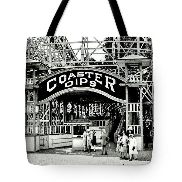 Vintage Coaster Tote Bag by Benjamin Yeager