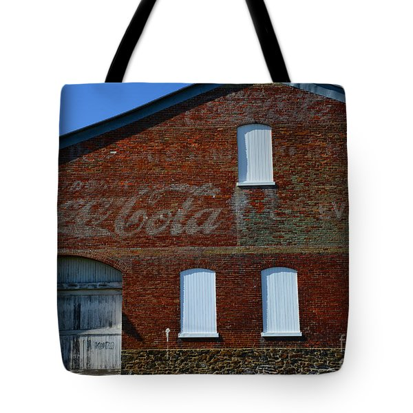 Vintage Coca Cola Ghost Sign Tote Bag by Paul Ward