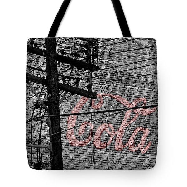 Vintage Coca Cola Sign 4b Tote Bag by Andrew Fare