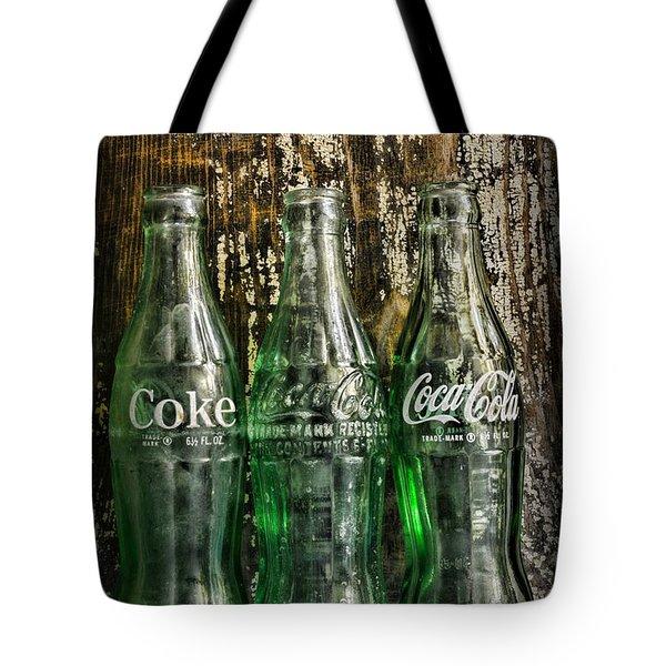 Vintage Coke Bottles Tote Bag