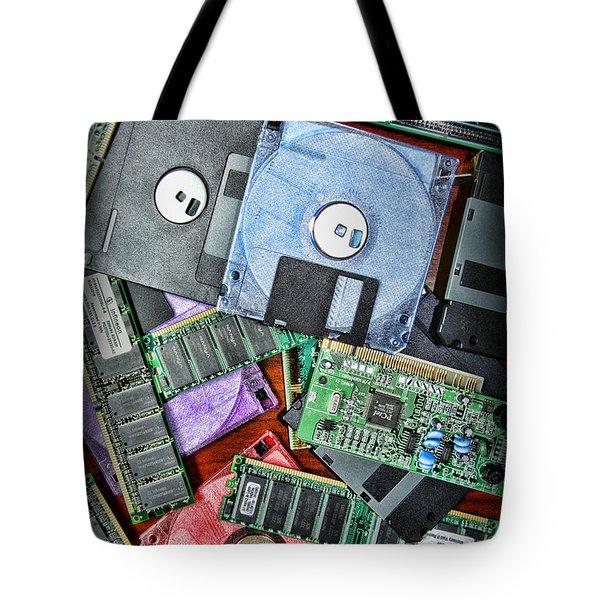 Vintage Computer Parts Tote Bag by Paul Ward