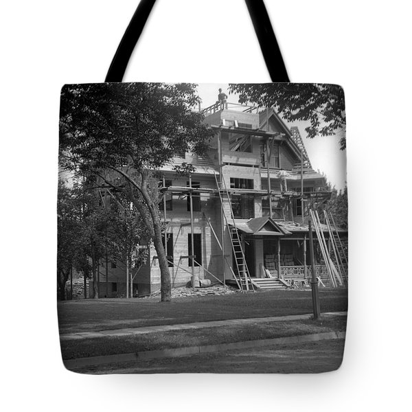 Vintage Construction Tote Bag