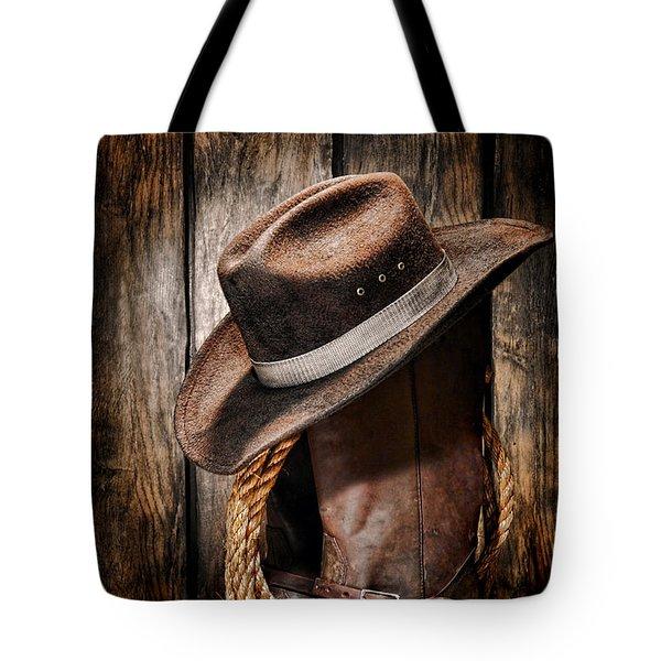 Vintage Cowboy Boots Tote Bag