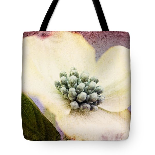 Tote Bag featuring the photograph Vintage Dogwood Blossom by Trina  Ansel