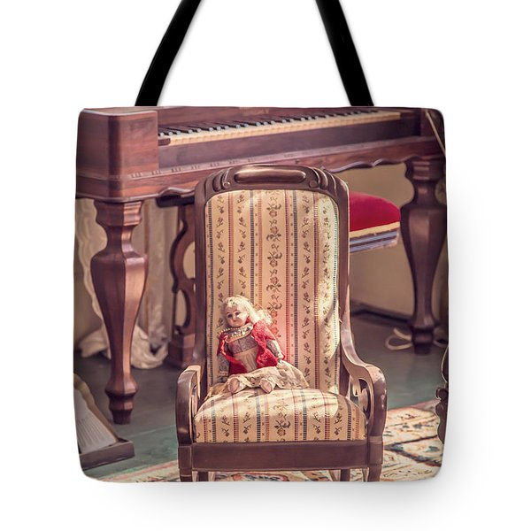 Vintage Doll In Parlor Tote Bag by Edward Fielding