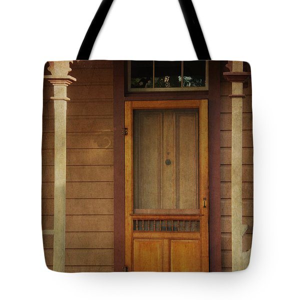 Vintage Doorway Tote Bag