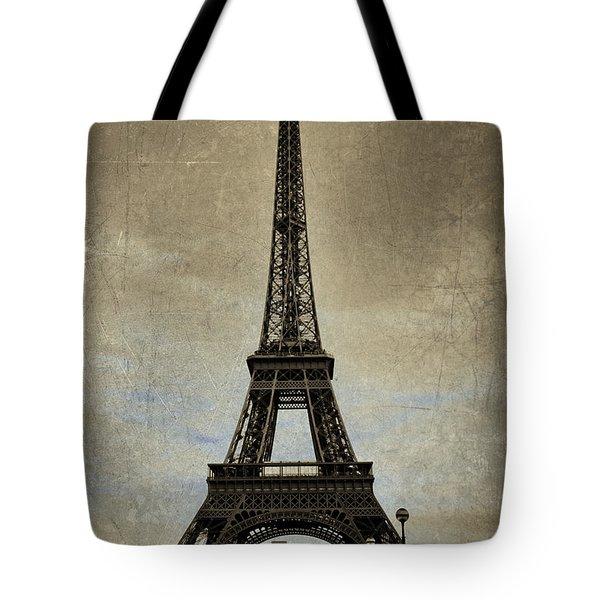 Vintage Eiffel Bronze Tote Bag
