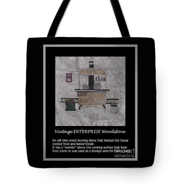 Vintage Enterprise Woodstove Tote Bag by Barbara Griffin