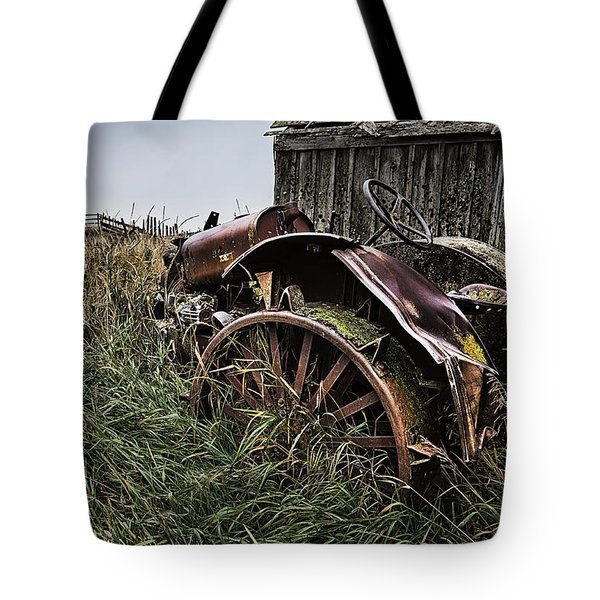 Vintage Farm Tractor Color Tote Bag