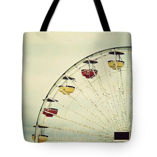 Vintage Ferris Wheel Tote Bag by Kim Hojnacki
